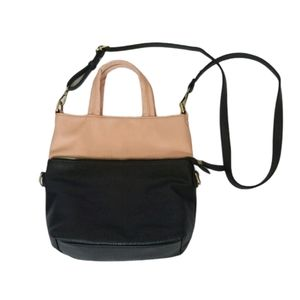 MMS Design Studio black and blush bag